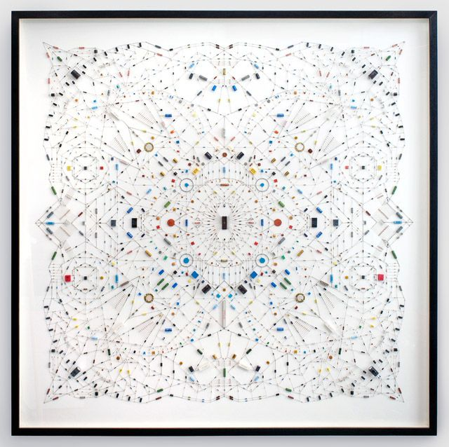 Technological Mandalas Made from Soldered Computer and Radio Components –  work from Italian-born, London-based artist Leonardo Ulian