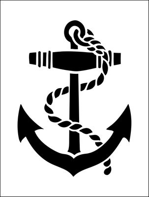 Anchor stencil from The Stencil Library online catalogue. Buy stencils online. Stencil code MS41.