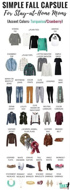 Basic Fall Capsule Wardrobe (72+ Outfits) für die Stay-at-Home Mom – KOSTENLOSER Download