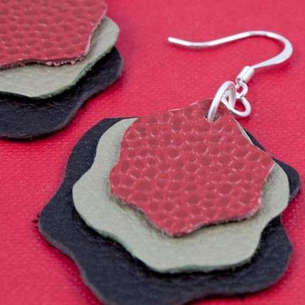 Recycled Leather Jewelry 7