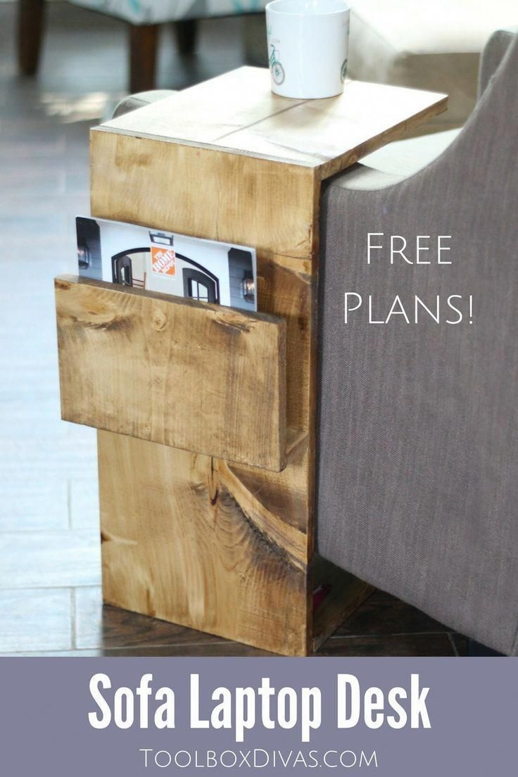 free woodworking plans for this mobile sofa laptop desk with