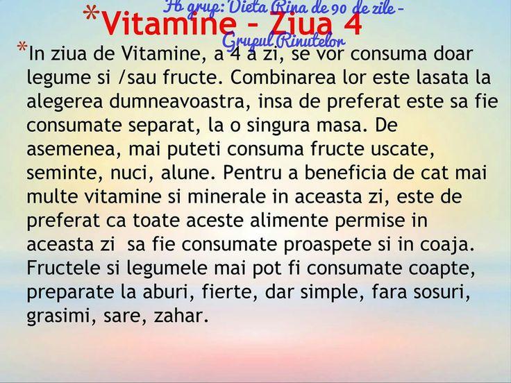 Vitamine - ziua 4