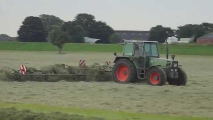 Fendt Farmer 308 LSA met Krone megaschudder hooi schudden Trekkerweb