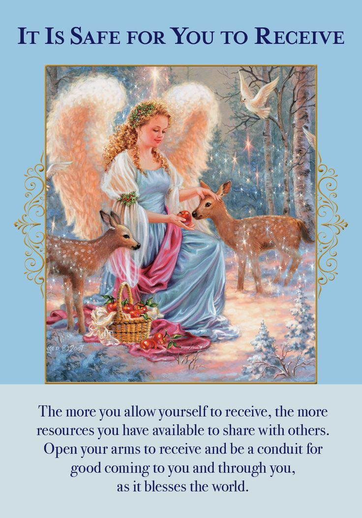 Oracle Card It Is Safe For You To Receive | Doreen Virtue - Official Angel Therapy Website