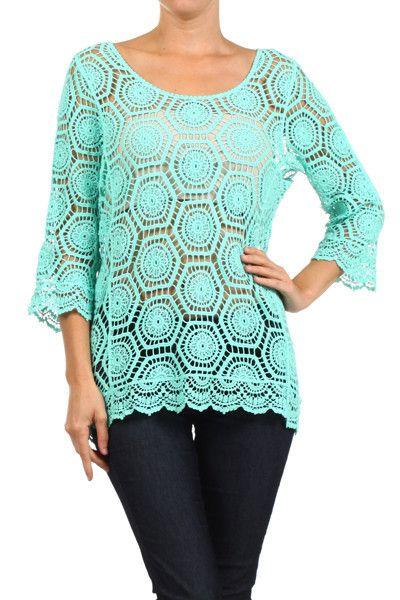 Delusive Geo-Me Crochet Top