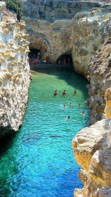 White Rocks, Caves and Crystal Waters in Milos Island, Greece Such a beautiful place...like heaven on Earth! #ttot #travel