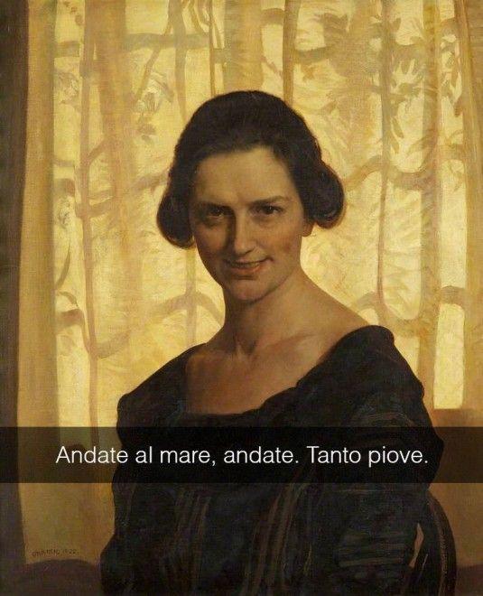Se i quadri potessero parlare Ritratto di giovane donna seduta - Frederick George Swaish