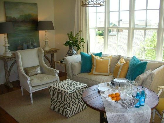 1000 images about slipcovers on pinterest studio interior shabby chic and ottomans for Turquoise and mustard living room