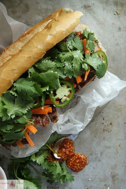 Bahn Mi Sandwich by Heather Christo, via Flickr (plus a panini press giveaway!)