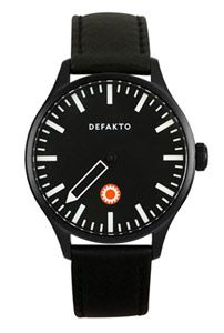 Minimalistic blacked-out one-hand watch