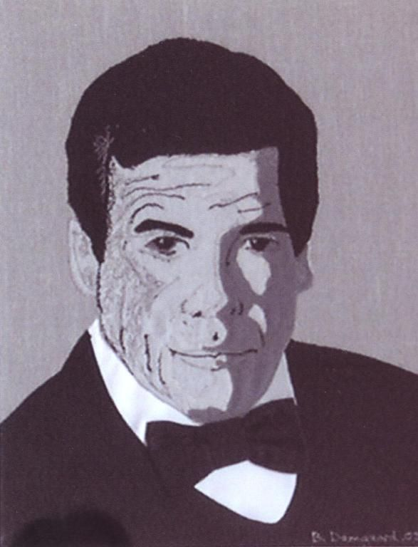 Made this pictureapplication of Roger Moore, for my dear friend and collector Knud Braagaard