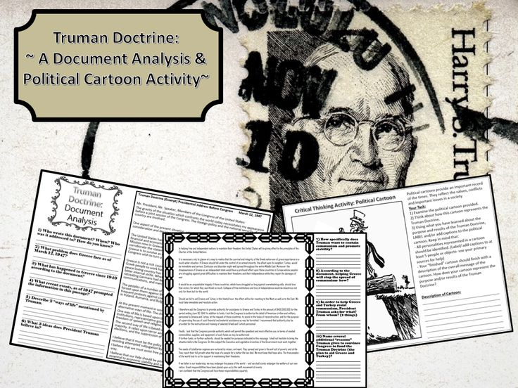 truman doctrine russian cartoons political  students will answer critical thinking questions about the contents of the truman doctrine excerpt