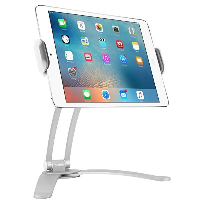 Cellet Kitchen Tablet Mount Stand 2 In 1 Kitchen Wall Tabletop Desktop Mount Recipe Holder Stand Fo Cell Phone Hand Holder Personalized Cell Phone Cases Tablet