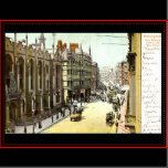 A reproduction of an old postcard of King Edward's School and New Street, Birmingham.