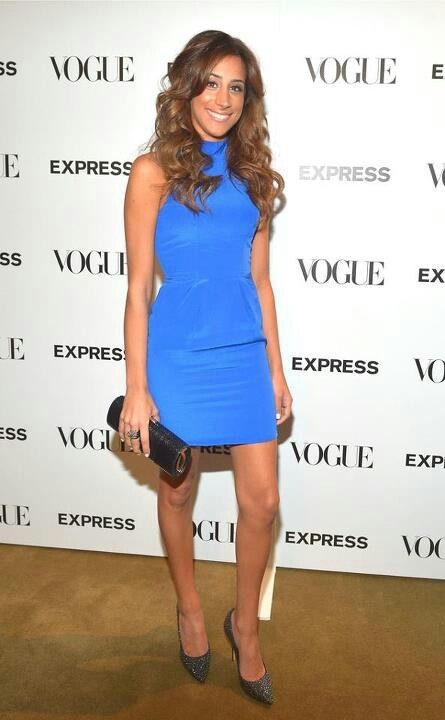 danielle jonas in blue mini