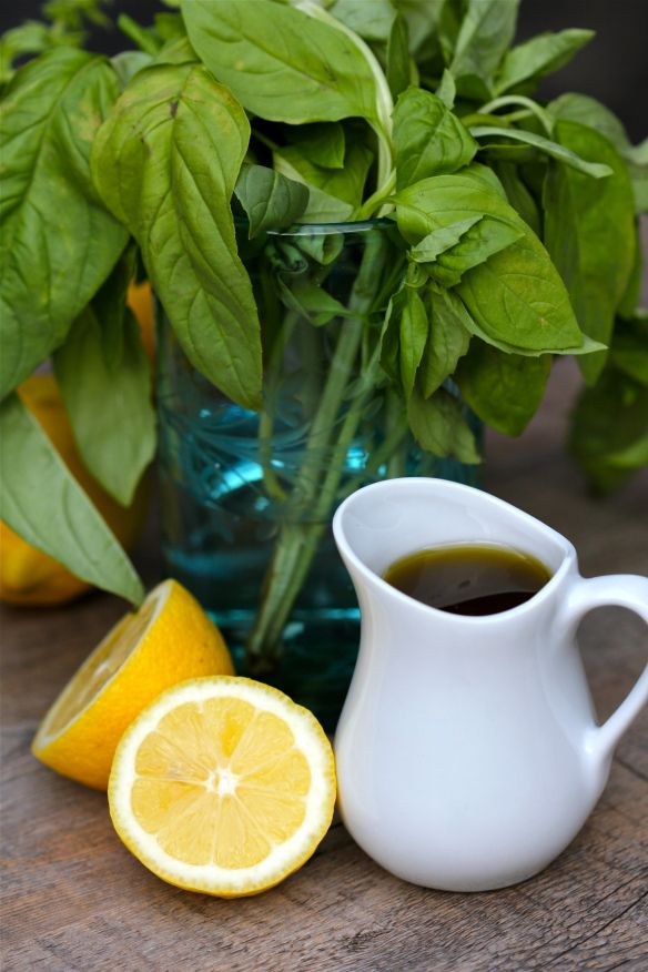 Lemon basil salad dressing Whisk 1 part fresh lemon juice with 3 parts ...