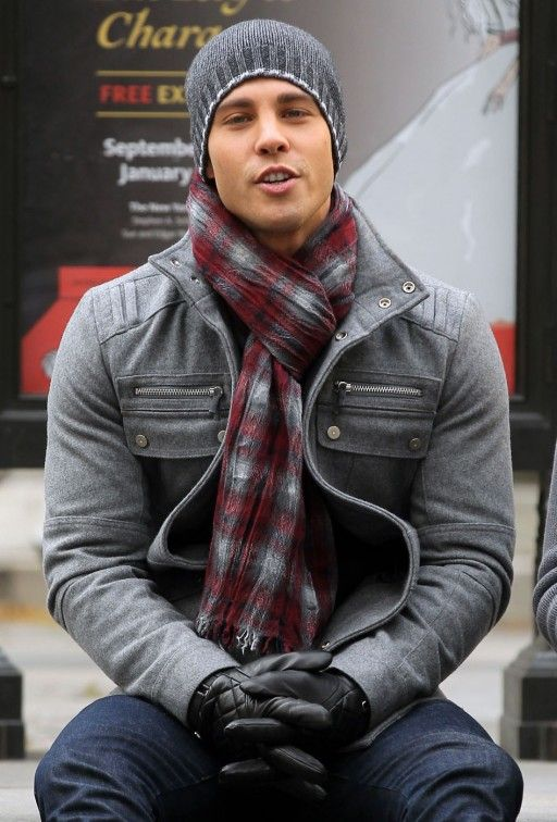 Scarf Day. Dean Geyer with black leather gloves http://liamhubpages.hubpages.com/hub/Best-Mens-Leather-Gloves