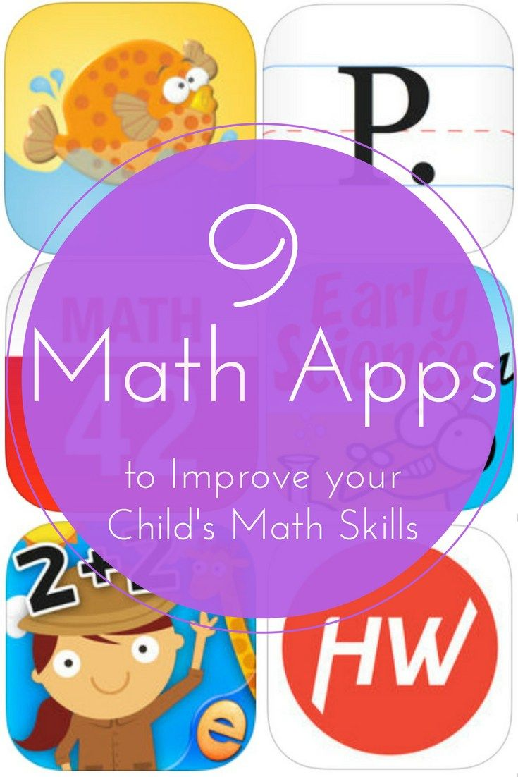 Read about 9 math apps to help your child with math. From preschool to high school, there are apps to help them in each phase of their education!