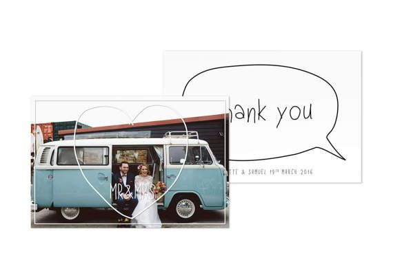 Thank You Cards Printable Photo Wedding - Just love this modern vintage thank you photo card!
