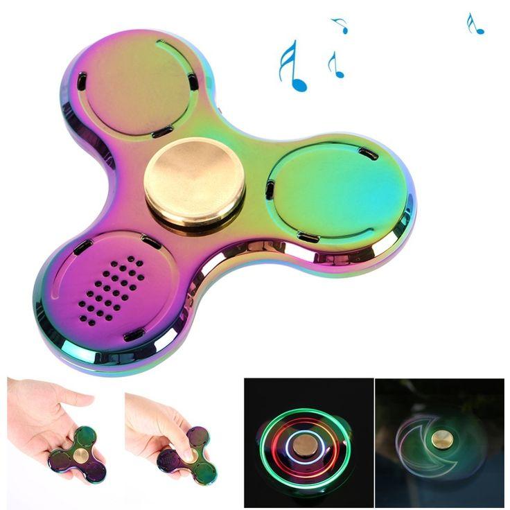 Metalowy Spinner LED Bluetooth //Cena: $46.00 & Zawsze darmowa dostawa! //     #Spinnery