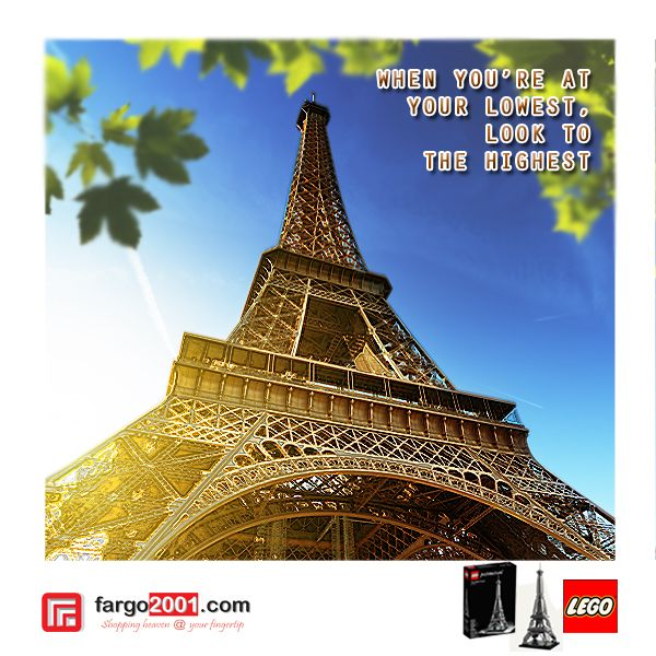 LEGO Architecture Eiffel Tower http://fargo2001.com/educational-toys-74/bricks-85/lego-93/lego-architecture-eiffel-tower-469.html