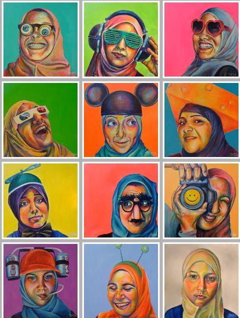 Technicolor Muslimah by Saba Barnard  http://artbysaba.jimdo.com/technicolor-muslimah/#