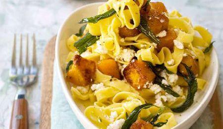Ricotta and butternut pasta
