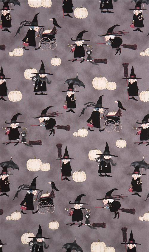 Halloween fabric Alexander Henry Witchy Woman smoke