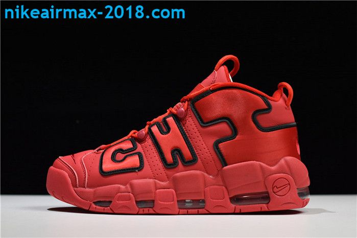 the latest 7476c 43fbe Buy Nike Air More Uptempo Chicago Mens Basketball Shoes For Sale Red Black