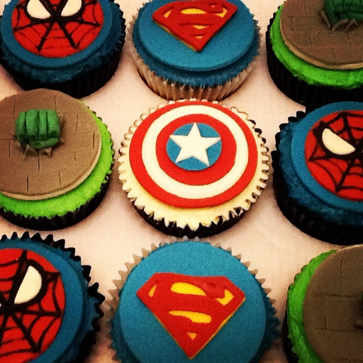 Superhero Cupcakes Birthday Cakea Superhero Birthday