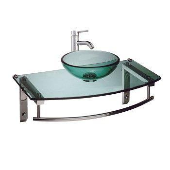 Wall Mount #Glass #Sink Bathroom Console Combo Package # 22907 Shop   U003e