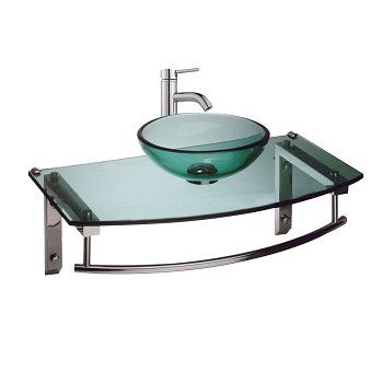 Wall Mount #Glass #Sink Bathroom Console Combo Package # 22907 Shop   U003e