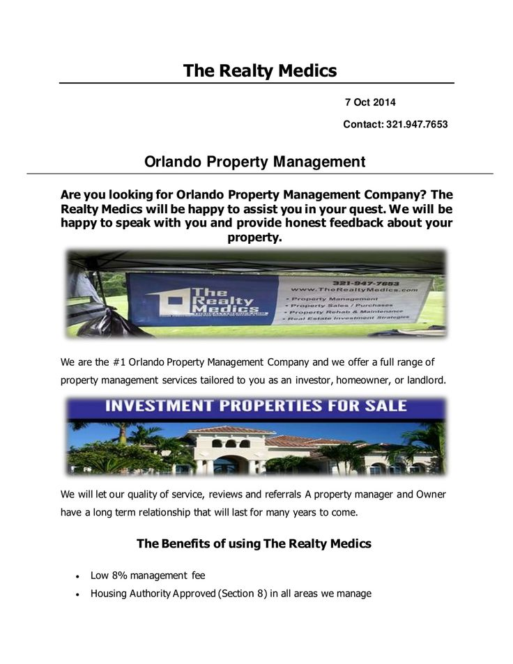 Orlando Property Management by Property Management Orlando via slideshare