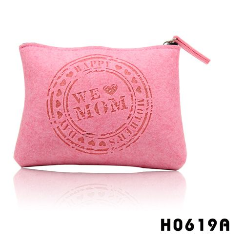 we love mom, felt cosmetic bag, best gift for Mother's day