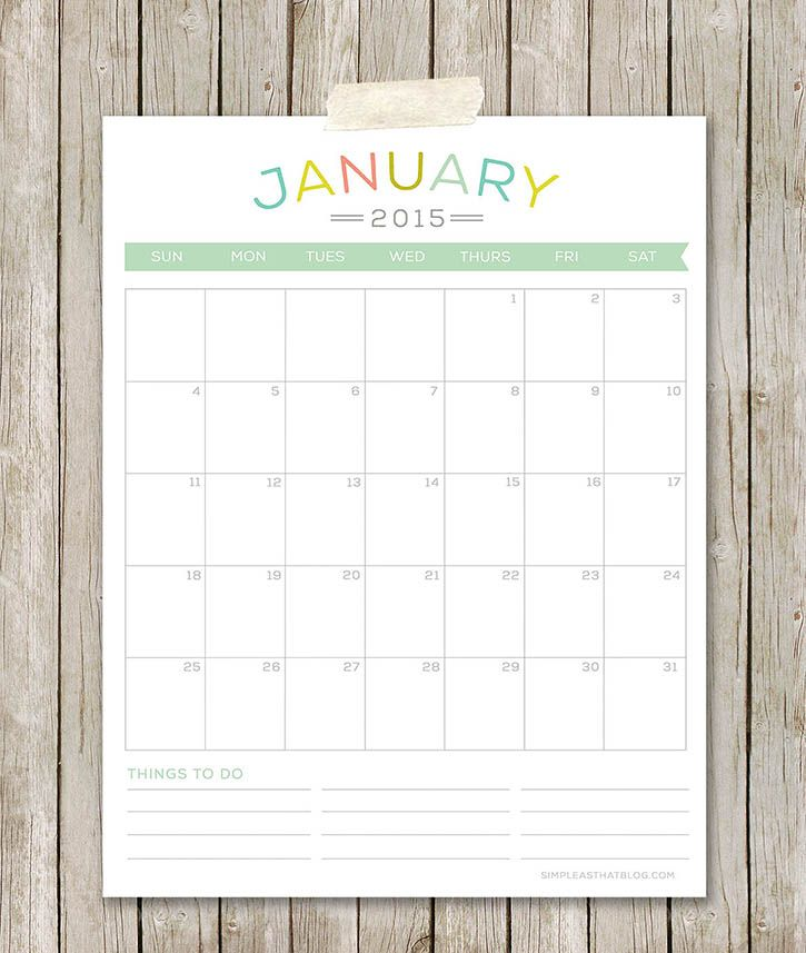 46 best Organize- Printable Calendars images on Pinterest Calendar