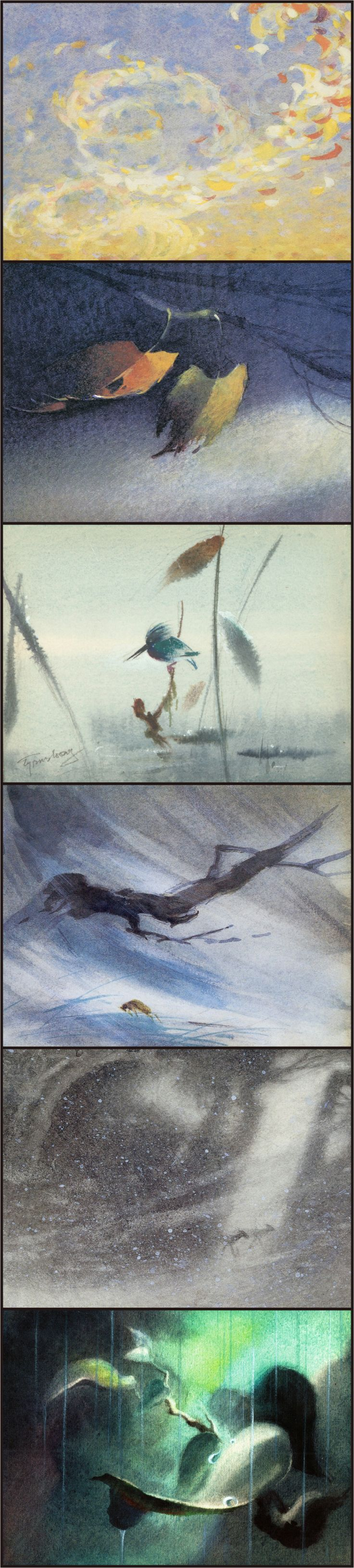 Bambi concept art by Tyrus Wong