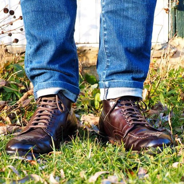 2017/02/03 07:08:37 newyorkandtokyo オールデン コードバン インディーブーツ。今日は「グラウンドホッグデー」です。グラウンドホッグと呼ばれる動物を使った、春の訪れを占うイベントが各地で行われます。  Alden Cordovan Indy boot. Enjoy your Groundhog Day  #alden #aldenshoes #cordovan #オールデン #fashion #古着 #vintage #outfit #shoes #靴 #shoe #ヴィンテージ #collection #コーディネート #coordinate #shoeshine #shoesoftheday #madeinusa #shoeporn #ootd  #ファッション #aldenarmy #足元くら部 #足元倶楽部 #アメカジ #instashoes #mensfashion #mensstyle #menswear #dapper