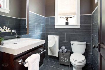 Innovation House 2013 - Men's Half Bath transitional-bathroom