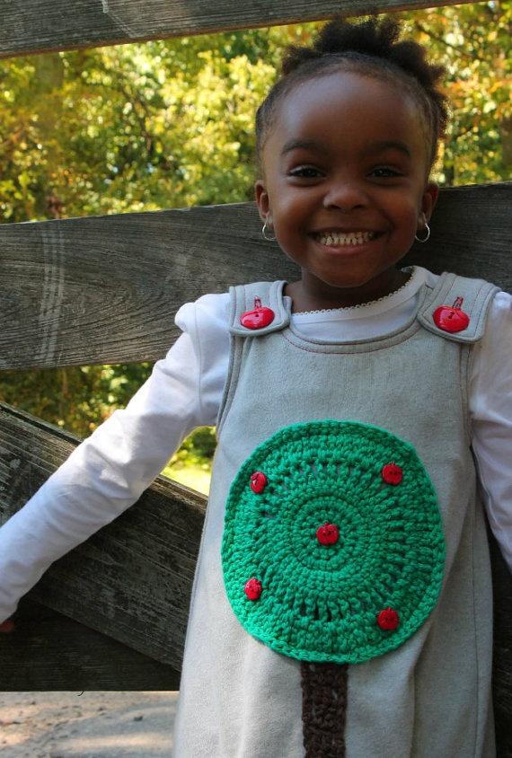 Appley Apple Tree  Toddler Dress Made To by SweetPotatoPrincess, $55.00