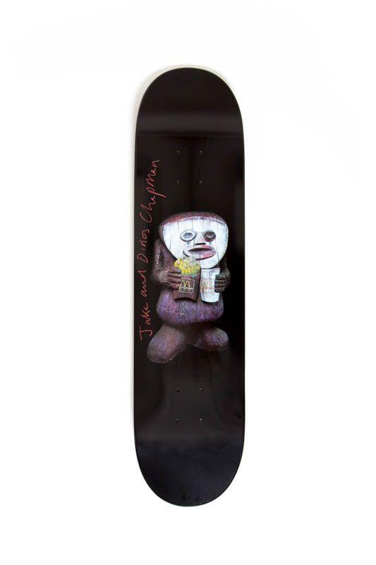 Signed Grimace  x Supreme Skateboard Deck