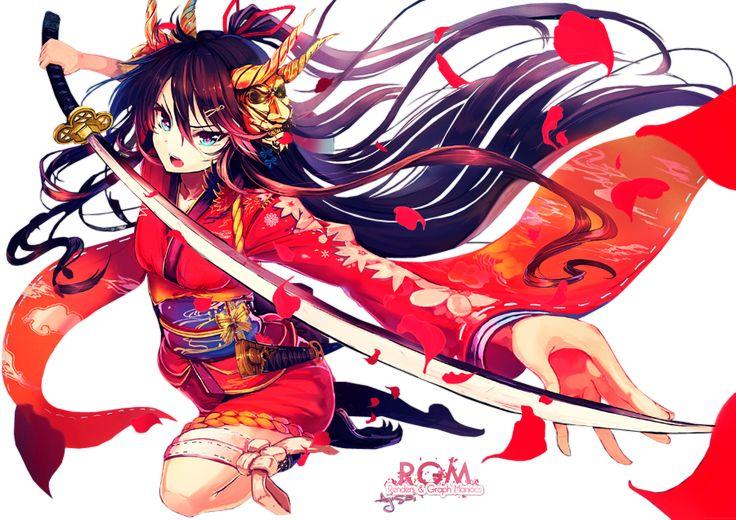 64 best images about renders on pinterest chibi katana - Manga femme chat ...