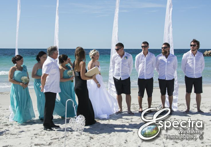 The ceremony on the beach.