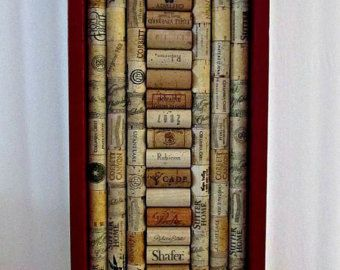 Wine Cork Board with Brown Frame Kitchen by LizzieJoeDesigns