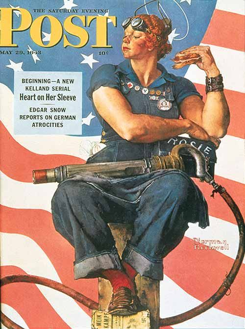 Rosie by Norman rockwell