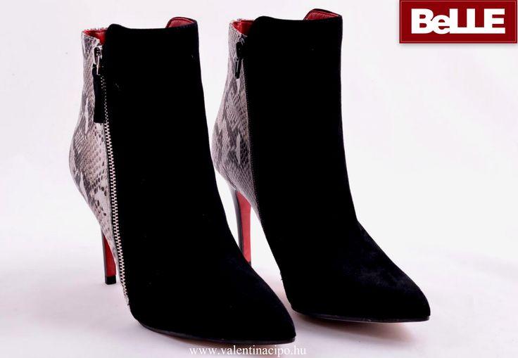 Különleges és egyedi BeLLE női bokacipő, a Valentina Cipőboltokban és Webáruházunkban :)  http://valentinacipo.hu/belle/noi/fekete/bokacipo/139871139  #BeLLE #bokacipő #Valentina_cipőbolt