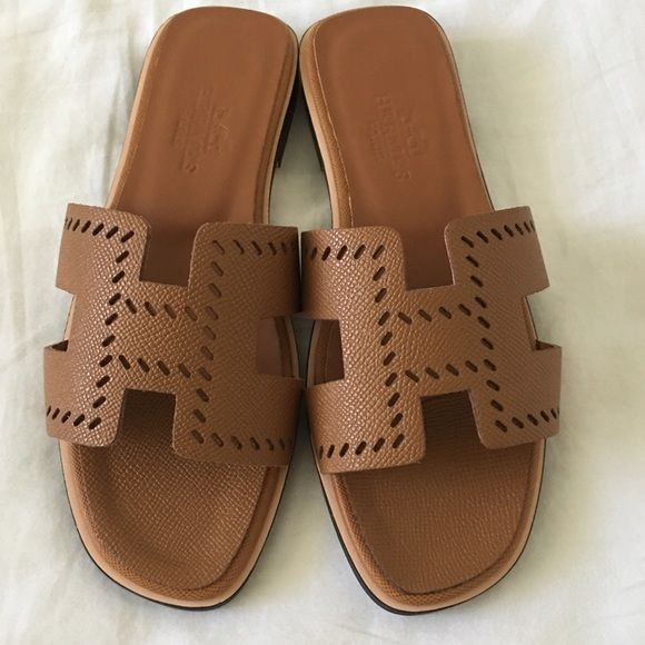a4b69a4f32 Shop Women's Hermes Brown size EURO 36 / 5.5 US Slippers at a discounted  price at Poshmark. Description: HERMES LADIES ORAN SANDALS BROWN PER…