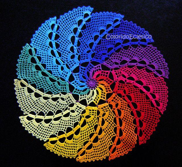 Novo centro de mesa ColoridoEcletico - 48 cm de diâmetro