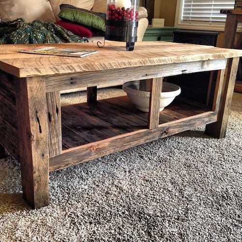 25 best ideas about wood coffee tables on pinterest Furniture made from barn wood