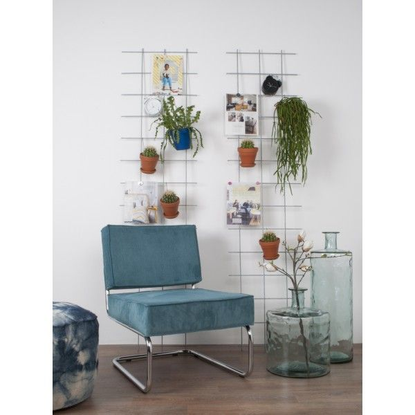 Ridge Rib Lounge Fauteuil IJsblauw- Zuiver - DesignOnline24