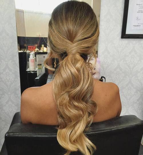 Un peinado simple pero hermoso